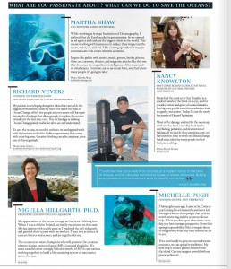 Origin Magazine page featuring Michelle Pugh